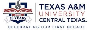 Texas A&M University-Central Texas 10th Anniversary Logo