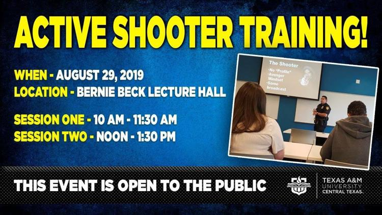 Learn how to respond to an active shooter with training from the A&M-Central Texas Police Department